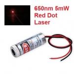 Adjustable Laser Tube 650nm 5mW - Dot Laser (แสงตกบนฉากเป็นจุดปรับความหนาได้)
