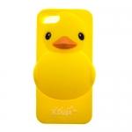 เคสไอโฟน5/5S เคสซิลิโคนเป็ดเหลือง
