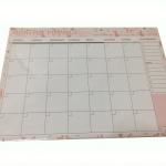Monthly planer สีชมพู (ราคา/แพ็ค 20 แผ่น)