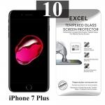 ฟิล์มกระจก iPhone 7 Plus Excel แผ่นละ 21 บาท (แพ็ค 10)
