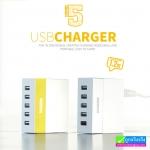 ที่ชาร์จ REMAX 5 USB RU-U1 (2.4A) ราคา 235 บาท ปกติ 940 บาท