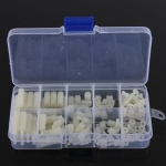 M3 Nylon Hex Spacers / Screw / Nut Stand-off (White) 120 ชิ้น