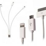 สายชาร์จ 4 in 1 iPhone 4, 5, MicroUSB, Samsung Tab