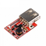 DC-to-DC Step Up Module with USB Output (1-5V to 5.1-5.2V) - Red PCB