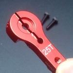 25T (สีแดง) Servo Metal Rocker (ใช้ได้กับ MG995 MG946R MG996R MG945 S3003)