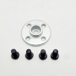 25T Aluminum Round Servo Mount + Screws (MG995, MG996R, S3003, TR213)