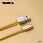 Remaxแท้ Cable Charger 1M สำหรับ Android สีทอง