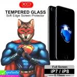 ฟิล์มกระจก iPhone 7/8 XO แบบเต็มจอ ราคา 160 บาท ปกติ 400 บาท