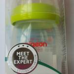 ขวดนม Pigeon BPA FREE (PP) แบบคอกว้าง ขนาด 8oz + จุกนมเสมือนมารดารุ่นพลัส ไซส์ M สีเขียว