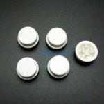 สีขาว B3F Tactile Switch Cap Round Button Cap 12x12x7.3mm แพค 5 ตัว