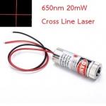 Adjustable Laser Tube 650nm 20mW - CrossLine Laser (แสงตกบนฉากเป็นเส้นกากบาทปรับความหนาเส้นได้)