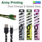 สายชาร์จ Micro USB (5 pin) Army Printing Fast Charge & Speed Data APC-01m