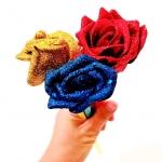 ปากกาลูกลื่นดอกกุหลาบ (ราคา/โหลคละสี)