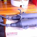 ท่อไอเสีย Yamaha Fino ไมล์แยก(รุ่นมีสวิงอาร์ม) แท้