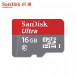 SanDisk Ultra MicroSDHC SDCard 16GB Class 10 (80MB/s 533X)