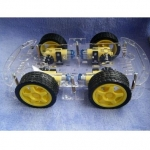 4WD 2-Layer Smart Car Chassis Kits with Speed Encoder DC 3V 5V 6V for Arduino
