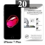 ฟิล์มกระจก iPhone 7 Plus Excel แผ่นละ 20 บาท (แพ็ค 20)