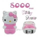 แบตสำรอง คิตตี้ Power Bank Kitty 8000 mAh เต็มตัว ราคา 365 บาท ปกติ 850 บาท