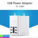 ที่ชาร์จ US plug USB Adapter รุ่น YC-CDA5 (7.2A) ราคา 325 บาท ปกติ 810 บาท