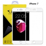ฟิล์มกระจกนิรภัย iPhone 7 แบบเต็มจอ สีขาว ยี่ห้อ Diamond