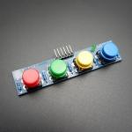โมดูลสวิตช์กดติด/ปล่อยดับ 4 ปุ่ม 4 สี สำหรับ Arduino