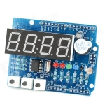 Arduino Expansion Board Clock Shield Wire Digital Module - Blue + Black (Catalex)