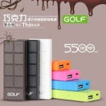 Power Bank แบตสำรอง GOLF Tiger 106 5500 mAh