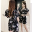 แฟชั่นเกาหลี set เสื้อและกางเกง พร้อมเข็มขัดเหมือนแบบ เสื้อผ้าคอตตอนผสมพื้นสีดำ thumbnail 8