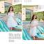 ชุดเดรสชีฟอง แฟชั่นเกาหลี อัดพลีตทั้งตัว สีขาว เปิดไหล่ thumbnail 11