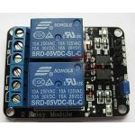 2 Channel Relay (Opto-Isolated) - Active Low 5V 10A