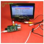 Raspberry Pi (for Type B)2 generation 7-inch LCD screen TFT with AV cable