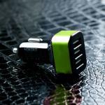 ที่ชาร์จรถ 3 USB สีดำ-เขียว