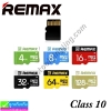 Remax Memory Micro SD Card class 10 Remax แท้ 100% ราคา 179 -1,590 บาท