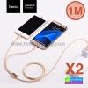 สายชาร์จ 2 in 1 Hoco X2 Micro USB/iPhone 6/5 1 เมตร ราคา 90 บาท ปกติ 225 บาท