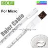 สายชาร์จ Micro USB สายวัด ไม้บรรทัด Golf Ruler Cable ราคา 70 บาท ปกติ 175 บาท