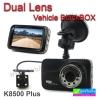 กล้องติดรถยนต์ K8500 Plus Dual Lens Vehicle BlackBox DVR ลดเหลือ 1,390 บาท ปกติ 3,475 บาท