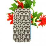เคสไอโฟน5/5S เคสฝาพับ ลายดอกไม้สีน้ำตาล