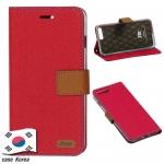 ROAR KOREA เคสไอโฟน7 พลัส เคสฝาพับ สีชมพู