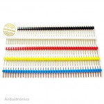 Pin Header Dip Straight Single Row 1X40PIN ( 5 สี )