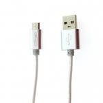 สายชาร์จ&ซิ้งค์ Micro USB Powermax สีเงิน
