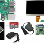 ชุด Raspberry Pi 3 Model B พร้อมจอ 7 inch HD Desktop Display for Raspberry Pi + Rack (Version 2)