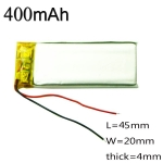 3.7V 400mAh lithium Battery Rechargeable Polymer LiPo