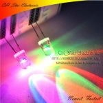 LED 5 mm Diodes Water clear 7 Colors Rainbow Slowly RGB flash 20 ชิ้น