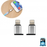 ตัวแปลงหัวชาร์จ Remax RA-USB2 Micro USB / Apple สีเงิน