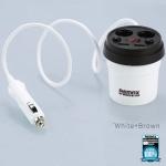 ที่ชาร์จในรถยนต์ remax CR-2XP CUP ถ้วยขยายช่องจุดบุหรี่ สีขาว-น้ำตาล ราคาปกติ 515 ลดเหลือ 335
