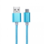 สายชาร์จ&ซิ้งค์ Micro USBPowermax สีฟ้า