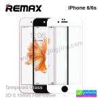 ฟิล์มกระจก iPhone 6/6s ขอบโค้ง 3D Remax ราคา 240 บาท ปกติ 600 บาท ความแข็ง 9H