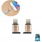 ตัวแปลงหัวชาร์จ Remax RA-USB2 Micro USB / Apple สีทอง