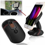 ที่จับโทรศัพท์ พับได้ สีดำ Car Holder Mouse ดีไซน์รูปทรงเม้าส์ ได้ทันสมัย
