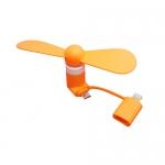 พัดลมUSB สำหรับ iOS และ Andriod สีส้ม